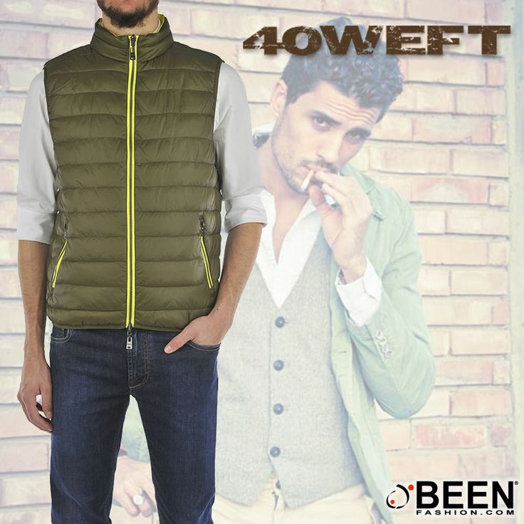 Casual e alla moda con #40WEFT! Che ne pensi, potrebbe abbinarsi al tuo stile? Dai un po' un'occhiata a questo gilet: scegli il colore, la taglia, e con un click sarà tuo! http://www.beenfashion.com/it/40weft-gilet-padding.html?utm_source=pinterest.com&utm_medium=post&utm_content=40weft-gilet-padding&utm_campaign=post-prodotto