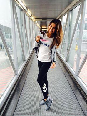 Bądź jak Ania Lewandowska.   Koszulka Nike Tee-Jdi Swoosh Crew