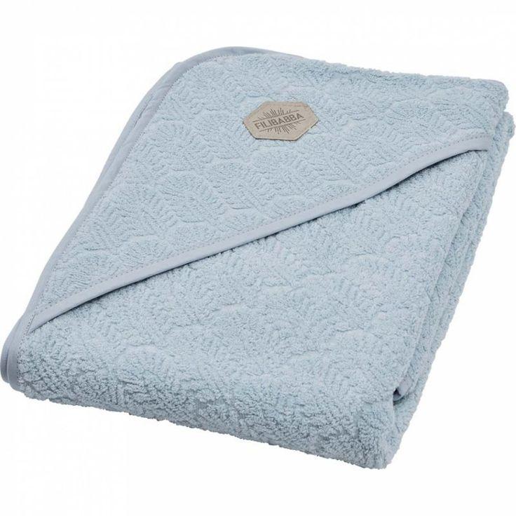 299,- Filibabba - Badeslag - Indian Nordic Blue - Håndklæde til baby