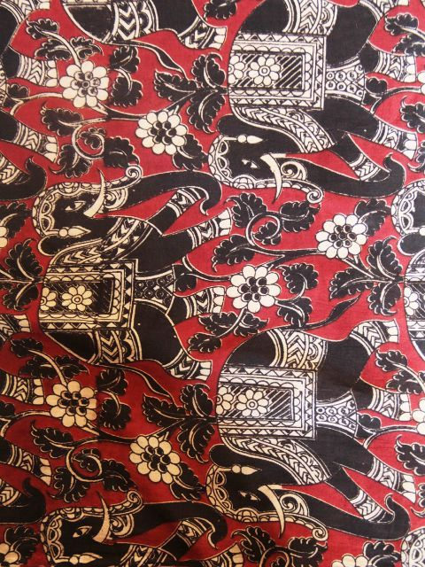 cotton hand printed blouse material