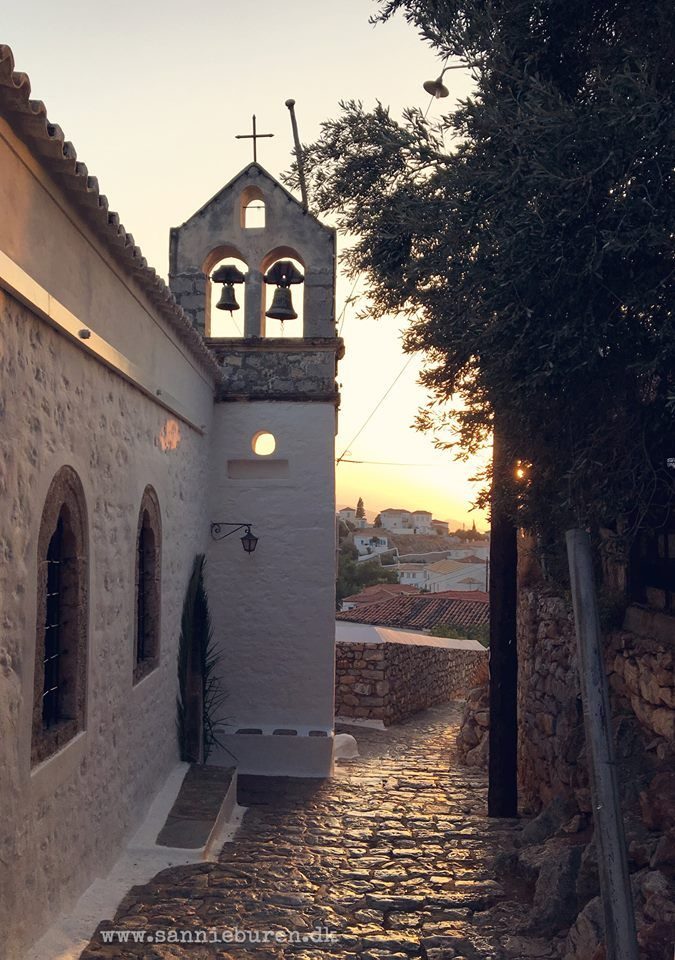 Impressions from Hydra, Greece, September 2016 © Sannie Terese Burén #Church #Sunset #Bells