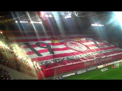Ultras Gate 7 festa per lo scudetto Olympiakos vs Aek 10/03/2013