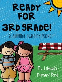 Summer homework pack {100+ pages} for second graders who are getting ready for third grade!  These materials provide a comprehensive review of math and literacy skills and have a fun summer theme. $