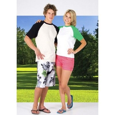 Raglan Sleeve Tee Min 25 - Clothing - Promotional T-Shirts - Unisex Tee Shirts - RC-T232RG1 - Best Value Promotional items including Promotional Merchandise, Printed T shirts, Promotional Mugs, Promotional Clothing and Corporate Gifts from PROMOSXCHAGE - Melbourne, Sydney, Brisbane - Call 1800 PROMOS (776 667)