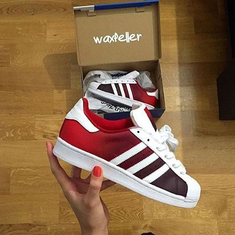 #Custom Adidas Superstars by @waxfeller