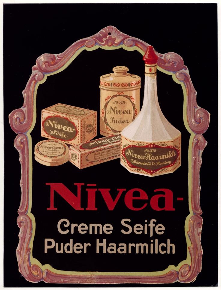 NIVEA Retroanzeige - 1919. #nivea #retro
