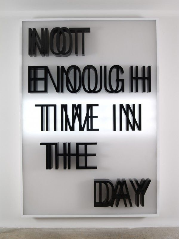 doug aitken seattle - not enough time in the day