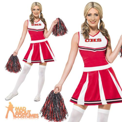 Adult #cheerleader #costume high sexy school girl fancy #dress hen party outfit,  View more on the LINK: http://www.zeppy.io/product/gb/2/161342993988/