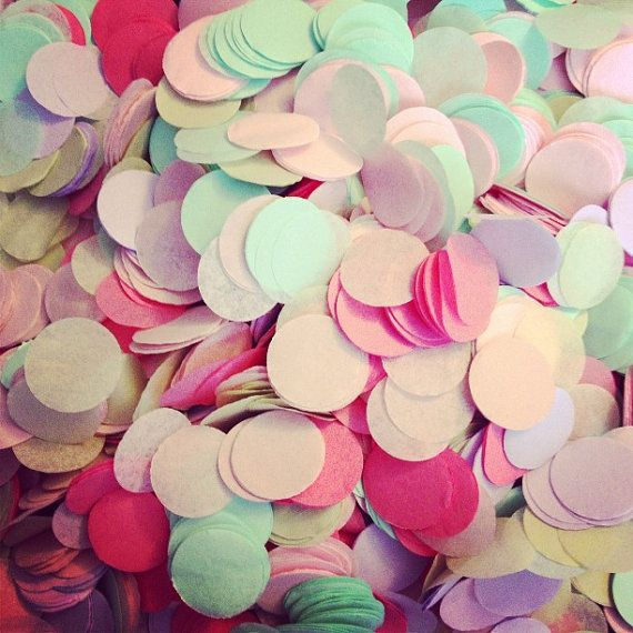 TISSUE PAPER CONFETTI / wedding decorations / party confetti / table decoration / flower girl / balloon confetti / pastel decorations
