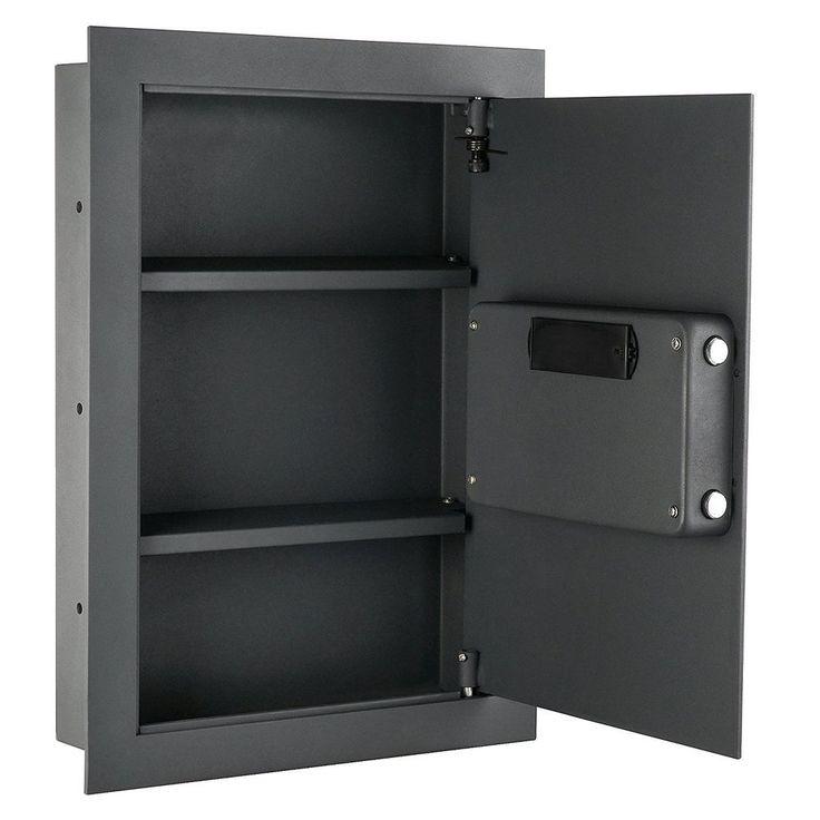 Wall Safe Flat Electronic Safe Jewelry Handgun Security Lock Digital 37 Pounds #WallSafeUSA