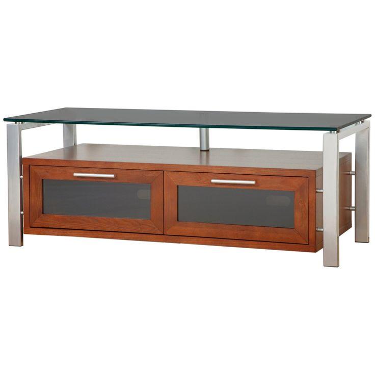 Plateau Decor 50 Inch TV Stand in Walnut/Black and Silver - DECOR 50 (W)-S-BG