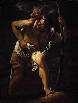 St. Christopher pray for us and bachelors, transportation, travelers, toothaches and gardeners.  Feast day July 25.