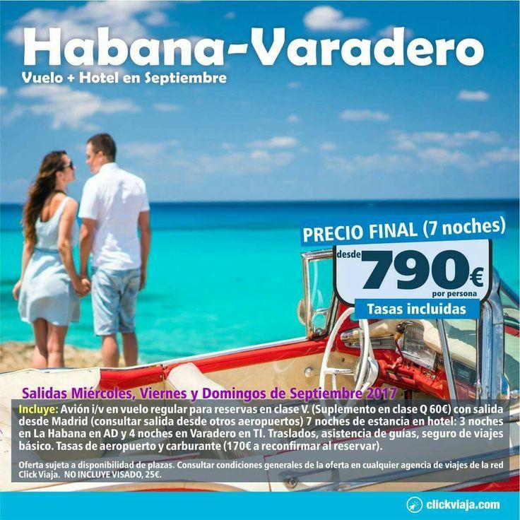 ¿Con ganas de disfrutar de los aires caribeños 🏝? Pues no debes dejar escapar esta oferta:  ☑ 3 noches en La Habana en AD ☑ 4 noches en Varadero en TODO INCLUIDO.Vuelo + hotel + traslados + guia y seguro desde 790€ pers/paq.   #Cuba #LaHabana #Varadero. Haz tu reserva llamándonos al 958695138, envíándonos un mensaje o ven a visitarnos y te informaremos de esta y otras muchas ofertas las hemos preparado para ti. Y Ahora paga tus vacaciones a PLAZOS SÍN INTERESES. además al hacer tu reserva…
