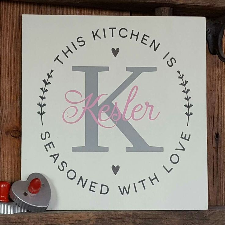 Love this kitchen wood sign Angie made! Beautiful color combination!  SVG DXF cutfile for Silhouette & Cricut