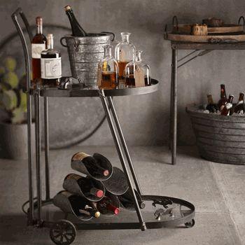 Iron Accents Victorian Bar Cart