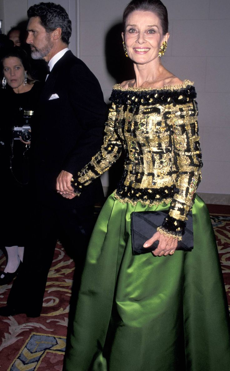 Audrey Hepburn at the Casita Maria Fiesta benefit in New York City, October 27, 1992.