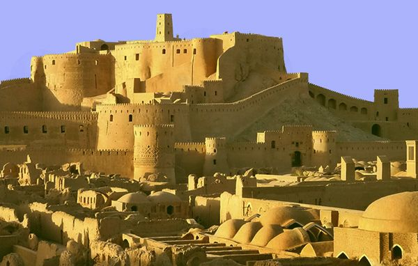 Located in southeastern Iran, the ancient city of Arg-e-Bam is made entirely of mud bricks, clay, straw and the trunks of palm trees. The city was originally founded during the Sassanian period (224-637 AD) and while some of the surviving structures date from before the 12th century, most of what remains was built during the Safavid period (1502-1722)