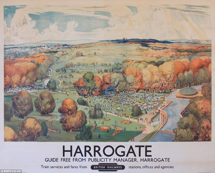 Hidden from view: It is believed the posters, including this one of Harrogate in Yorkshire, were never put on display because they are in su...