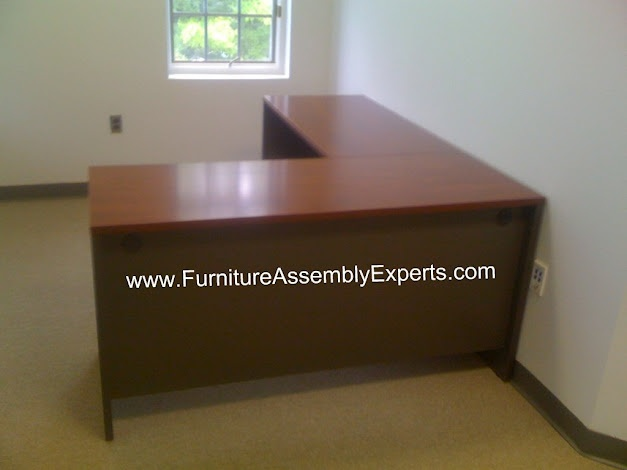 Bush L shaped desk assembled in Washington DC by Furniture Assembly Experts Company: L Shape Desks, Furniture Assembly, Geekdesk Assembly, Assembly Service, Expert Company, Desks Assembly, Assembly Expert, Call 2407052263, Laundry Room