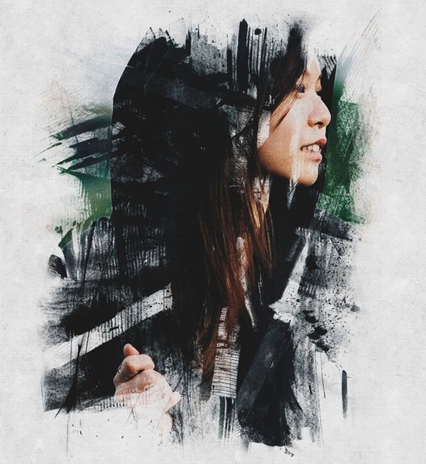 How to Create Ink Scratch Portrait Effect in Photoshop Tutorial #photomanipulation #photoediting #photoeffect