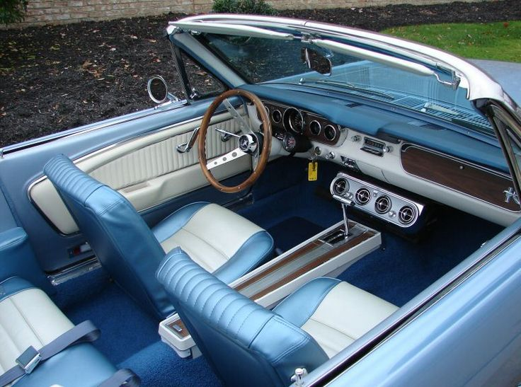 Silver Blue 1965 Mustang  Convertible