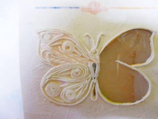 Бабочка пейп-арт