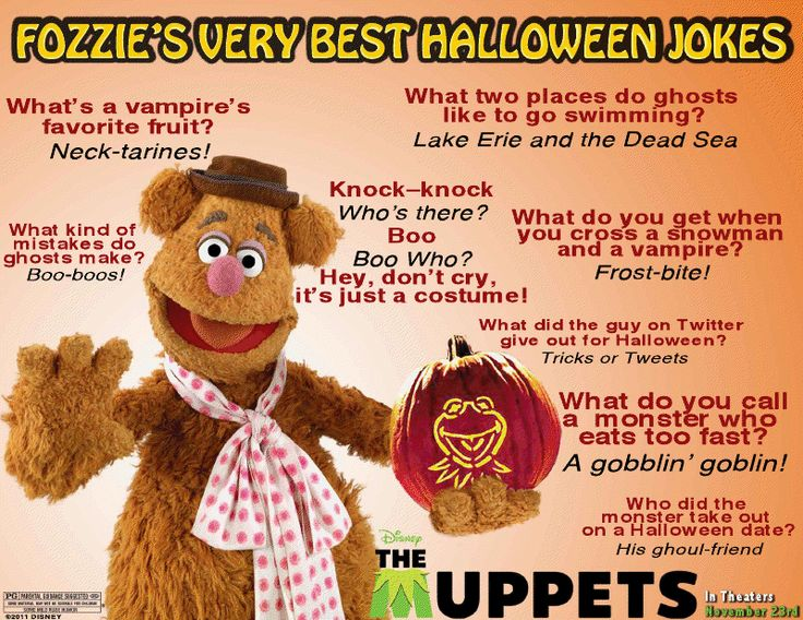 Funny Halloween Jokes | Disney's The Muppets presents: Fozzie Bear's Funny Halloween Jokes