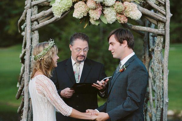 Bohemian Chic und ach so intime Hochzeit Bridal Musings   – Ceremony