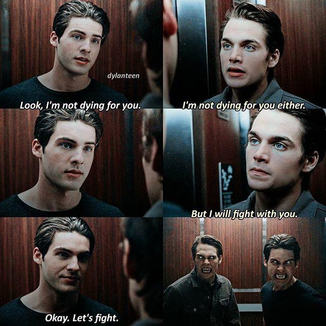 Liam und Theos Bruderschaft ist etwas stärker als die Beziehung zwischen Alpha und Beta !! ??? (Scott: Hinweis Hinweis Versuche mehr wie Theo zu sein)