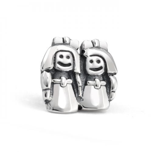 Bling Jewelry Sterling Silver Loving Sisters Charm Bead Fits Pandora Chamilia