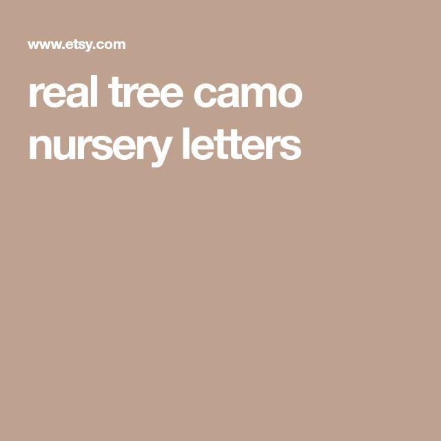 real tree camo nursery letters