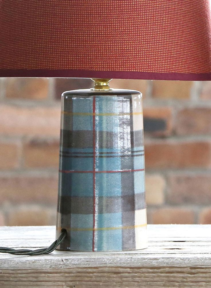 The perfect pairing isobel anderson small tapered lamp and loch alsh large tapered lampshade