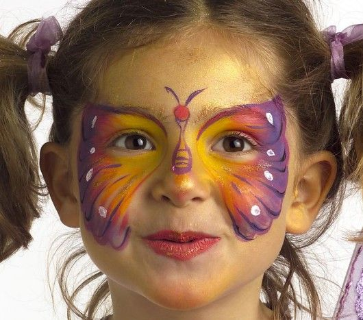 17 best images about maquillage enfants on pinterest butterfly face halloween and butterflies - Maquillage simple enfant ...