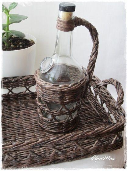 """Кухня ручной работы. Ярмарка Мастеров - ручная работа. Купить Плетеный набор для кухни """"Палисандр"""". Handmade. Коричневый, для дачи, плетение"""