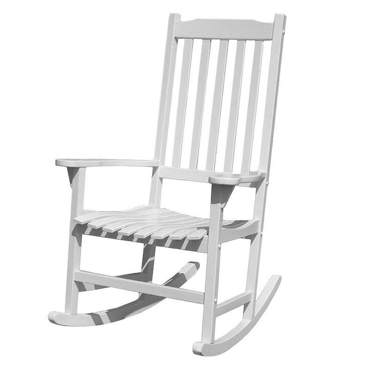 Merry Products Traditional Rocking Chair - Outdoor, White