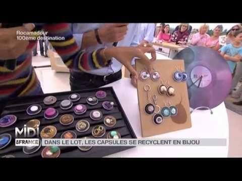 MADE IN FRANCE : Dans le Lot, les capsules se recyclent en bijou - YouTube
