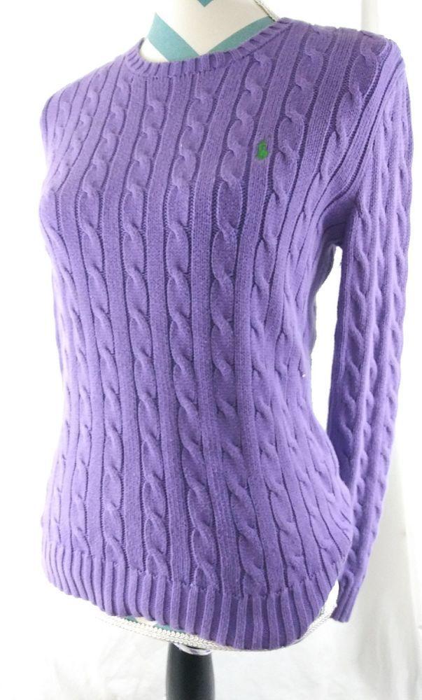 Top Size Purple Knit Sweater Ralph Polo Lauren Medium Pullover QstdxrChBo