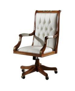 Drehsessel Leder, Drehsessel für Büro oder Arbeitszimmer Made in Italy www.frankmoebel.com