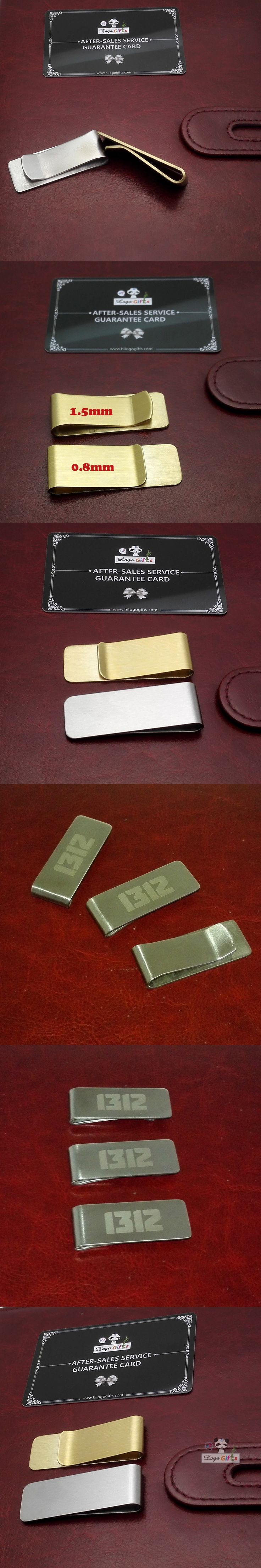 Hot sellers Fashion Simple currency clip can be customized with private Company logo and Company name personalized gifts