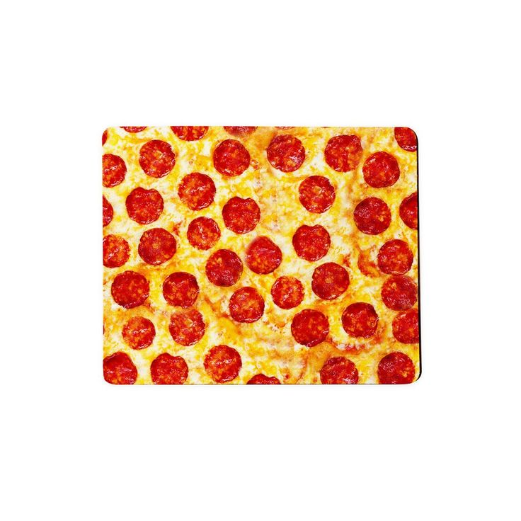 Pizza Invasion Mousepad  Mice love cheese, so they'd love this mousepad. It'll pepper(oni) your Internet browsing in the most delicious way possible.