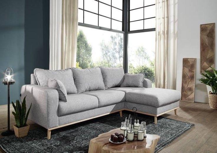 Sofa Björn grau inklusive Kissen Ottomane rechts Ecksofa Skandinavisches Design   Möbel & Wohnen, Möbel, Sofas & Sessel   eBay!
