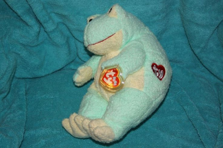 Ty BABY FROG Baby Plush Rattle Stuffed Toy Plush RARE #TY #TYClassic