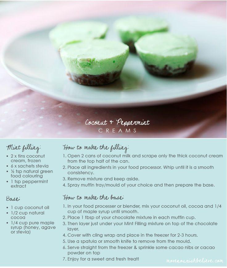 Coconut and Peppermint Cream Raw Treat Recipe