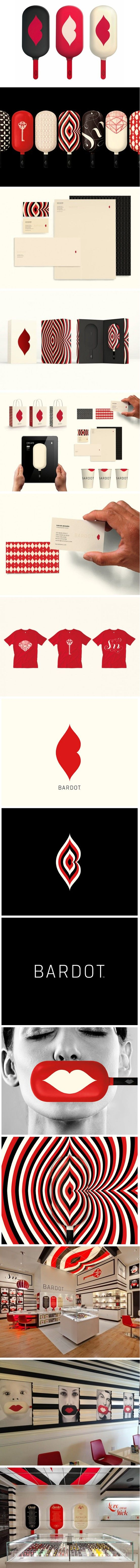 Bardot by Landor an old #identity #packaging #branding pin that I truly love PD