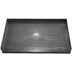 Tile Ready Shower Pan 32 x 48 Center Barrier Free PVC Drain