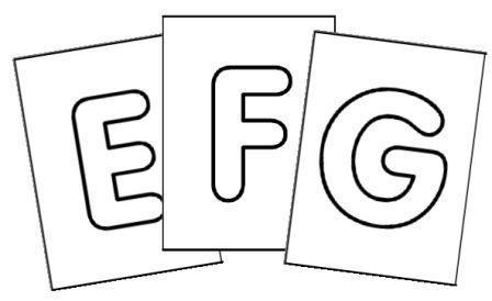 Lettres de l 39 alphabet affichage ou fabrication de cartes jouer activit s manuelles - Grande lettre alphabet a imprimer ...