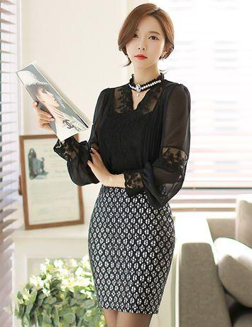 Styleonme_Unique Glitter Pencil Skirt #skirt #glitter