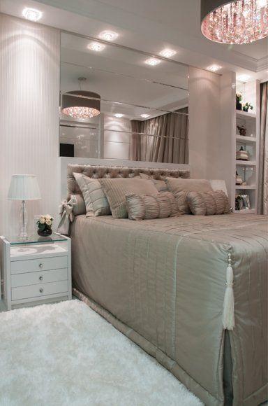 como decorar a cabeceira da cama com espelhos - Pesquisa Google
