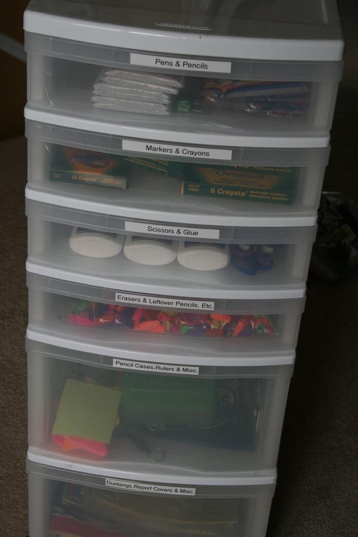 Craft Closet Storage Art Supplies