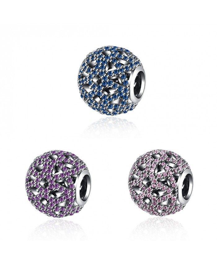 925 Sterling Silver Blue/Pink/Purpple Bracelet Charms